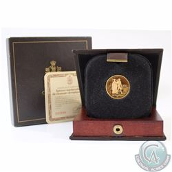 RCM Issue: 1976 Canada $100 Olympic 22k Gold Coin in Original Box with COA.