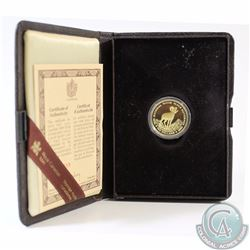 RCM Issue: 1985 Canada $100 National Parks 22k Gold Coin in Original Display Case with COA.