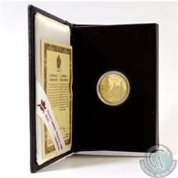 RCM Issue: 1995 Canada $100 275th Anniversary of Louisburg 14k Gold Coin in Original Display Case wi