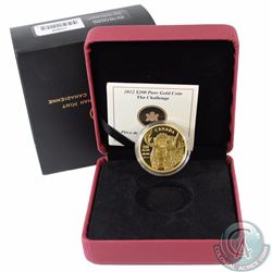 RCM Issue: 2012 Canada $200 Robert Bateman - The Challenge Fine Gold coin. Mintage 750pcs (Tax Exemp