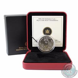 RCM Issue: CANADA 2006 Spring $50 1oz Palladium Big and Little Bear Constellations. Comes with all o