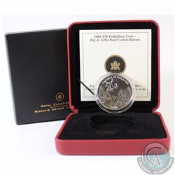 RCM Issue: CANADA 2006 Summer $50 1oz Palladium Big and Little Bear Constellations. Comes with all o