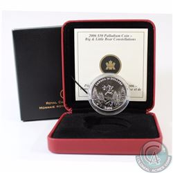 RCM Issue: CANADA 2006 Winter $50 1oz Palladium Big and Little Bear Constellations. Comes with all o