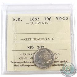 10-cent New Brunswick 1862 ICCS Certified VF-30