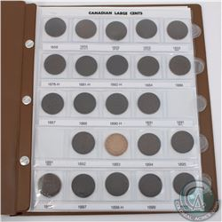 1858-1920 Canada Large 1-cents in Brown Uni-Safe Folder. 1891 SDLL & 1891 SDSL are the only dates mi