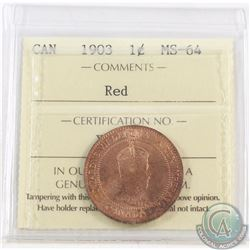 1-cent 1903 ICCS Certified MS-64 Red