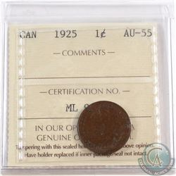 1-cent 1925 ICCS Certified AU-55