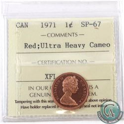 1-cent 1971 ICCS Certified SP-67 Red Ultra Heavy Cameo