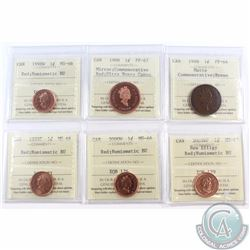 1-cent 1998 Commemorative Matte ICCS Certified PF-64 Brown, 1998 Commemorative Mirror PF-67 Red Ultr