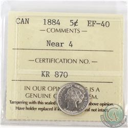 5-cent 1884 Near 4 ICCS Certified EF-40