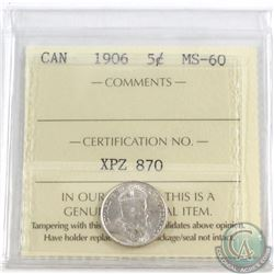 5-cent 1906 ICCS Certified MS-60
