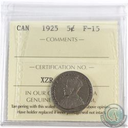5-cent 1925 ICCS Certified F-15