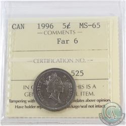 5-cent 1996 Far 6 ICCS Certified MS-65