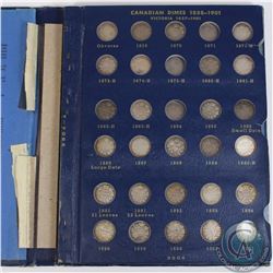 10-cent 1858-1977 Canada Collection housed in Vintage Whitman album. You will receive one of each co