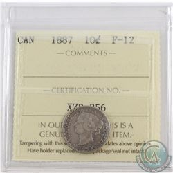 10-cent 1887 ICCS Certified F-12