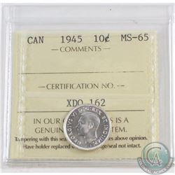 10-cent 1945 ICCS Certified MS-65