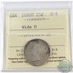 25-cent 1880H Wide O ICCS Certified G-4