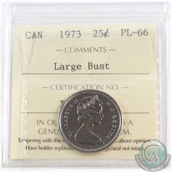 25-cent 1973 Large Bust ICCS Certified PL-66