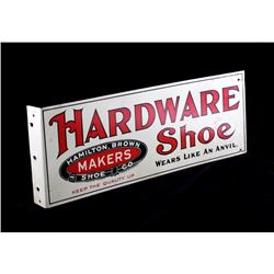 Hardware Shoe Hamilton Brown Flange Sign c.1900