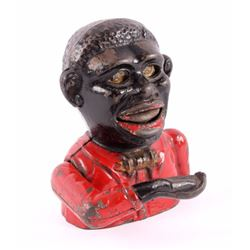 Cast Iron Little Joe Black Americana Coin Bank