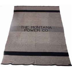 Montana Power Company Pendleton Wool Blanket
