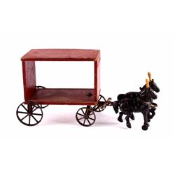 Arcade Cast Iron & Wood Circus Wagon c. 1910's