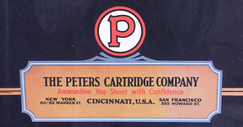 1931 Peters Cartridge Company Framed Calendar