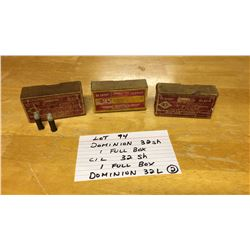 AMMUNITION, .32 SHORT/LONG