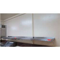 "Stainless Steel Wall-Mount Shelf (10ft L x 15"" W) - 2 Pieces (5 ft segment & 10 ft segment)"