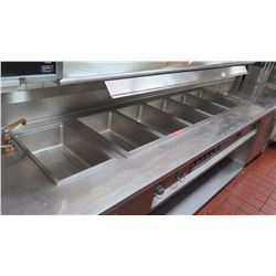 """Wells 5-Compartment Steam Table, 238"""" x 37"""" x 36"""" H"""