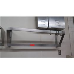 Stainless Steel Overhead, Wall-Mount Pot/Pan Rack 44 x 12 x 13