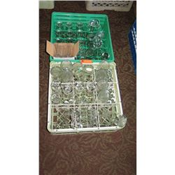 Approx. 15 Wine Glasses, 10 Short Drinking Glass, 1 Box of 36 Shot Glasses, 9 Carafes