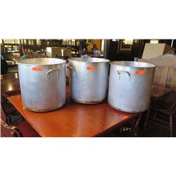 """3 Tall Stock Pots - Approx. 19"""" dia, 18"""" H"""