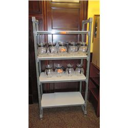 """Aluminum Shelving System w/4 Shelves (Contents Not Included) 35.5 x 17.5 x 71.5"""" H"""