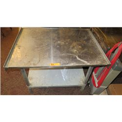 Square Stainless Steel Utility Table w/Undershelf - 36 x 30 x 26.5 H