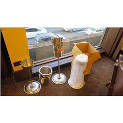 """3 Champagne Bucket Stands and 4 Champagne Buckets (6""""L x 20""""H) (7.5""""L x 8""""H)"""