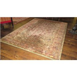 """Large Area Rug - Sand/Rose/Sage Colors (99""""L x 137""""W) - Well-worn along edges"""