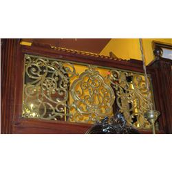 "1-Piece Cast Iron Scrollwork Railing Accent - Section Measures (63""L x 29""W)"