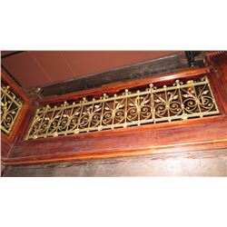 "1-Piece Wrought Iron Scrollwork Railing Accent - Section Measures (100""L x 26.5""W)"