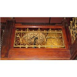 "1-Piece Wrought Iron Scrollwork Railing Accent - Section Measures (53"" x 26.5""W)"