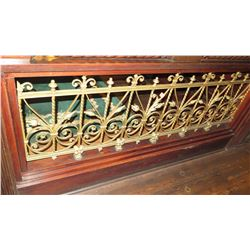 "1-Piece Wrought Iron Scrollwork Railing Accent - Section Measures (79""L x 26.5""W)"
