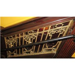 "2-Piece Wrought Iron Scrollwork Railing Accents - Sections Measure (52""L x 25""W) (132""L x 25""W)"