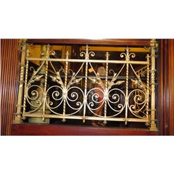 "1-Piece Wrought Iron Scrollwork Railing Accent - Section Measures (27""L x 26.5""W)"
