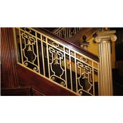 "2-Piece Wrought Iron Scrollwork Railing Accents - Sections Measure (55""L x 25.5""W) (59""L x 25""W)"