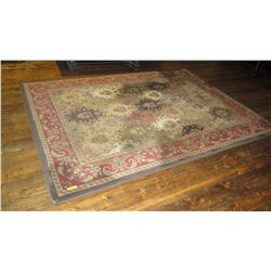 "Area Rug - Multi Colored w/Red Borders 131"" X 95"""