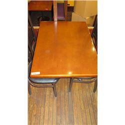 Rectangular Hardwood Table w/Metal Base 42 x 30 x 27.5""