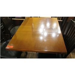 "Rectangular Hardwood Table w/Metal Base 40 x 30 x 27.5""H"