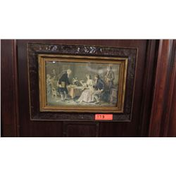 Framed Art: Regency Dinner Party Scene 20 x 14.5