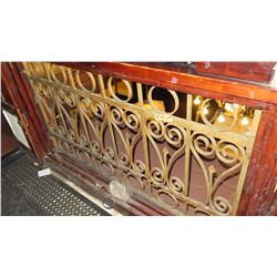 "2-Piece Wrought Iron Scrollwork Railing Accent - (56.5""L x 30.5""W) (123""L x 29""W)"
