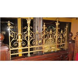 "3-Piece Wrought Iron Scrollwork Railing Accent - (25.5""L x 26.5""W) (57.5""L x 33""W) (25.5""L x 26.5""W)"